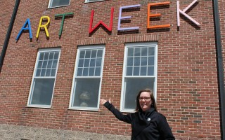Erica Strzepek, program aide at the Harwich Cultural Center, is excited about having the ArtWeek festival located at the center here. WILLIAM F. GALVIN PHOTO  (photo: )