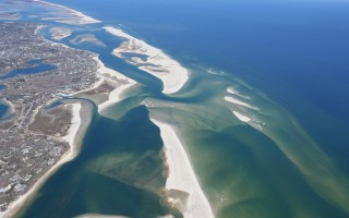 This aerial photo taken March 21 shows changes to Chatham's eastern shoreline and waterways made by the series of storms that struck between January and March. SPENCER KENNARD PHOTO  (photo: )