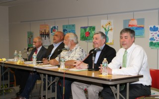 Chatham selectman candidates at the May 2 forum at the Eldredge Public Library. ALAN POLLOCK PHOTO  (photo: )