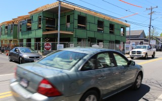 The two-story, 12,400-square-foot Harwich Port Commons building fronting on Route 28 in the center of the village is presently under construction. WILLIAM F. GALVIN PHOTOS  (photo: William F. Galvin)