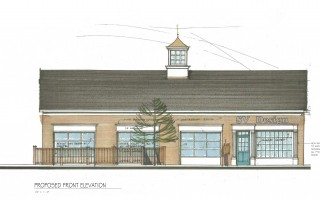 Architect's rendering of the proposed renovations to the former Cumberland Farms store at 859 Main St. in Chatham. ILLUSTRATION COURTESY OF SV DESIGN  (photo: )