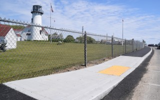 New section of sidewalk along the Chatham Coast Guard Station at the Lighthouse Overlook. TIM WOOD PHOTO  (photo: )