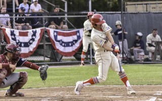 Zach Watson (29) connects with the ball for the Mariners in their June 16 game against Wareham. Kat Szmit Photo  (photo: )