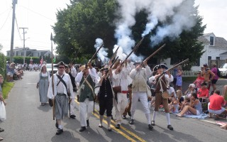 Yarmouth Minutemen in Wednesday's parade. TIM WOOD PHOTO  (photo: )