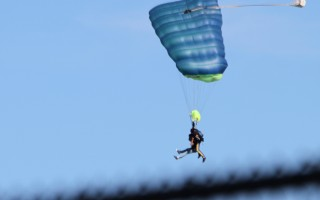 Skydivers at Chatham Airport.  FILE PHOTO  (photo: Alan Pollock)