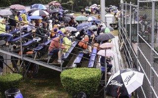 Umbrellas ruled the better part of the day at the annual Cape Cod Baseball League All-Star Game, held July 22 at Whitehouse Field. Kat Szmit Photo  (photo: Kat Szmit)
