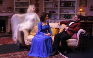 "Stephanie Haig, Phoenix Catlin and Zachary Clark in ""Blithe Spirit"" at Elementary Theater Company.  HANS OLSEN PHOTO  (photo: Hans Olsen)"