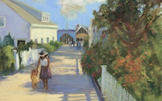 Ritter enjoys painting scenes from the Outer Cape, like this Provincetown streetscape.  (photo: Orleans Camera)