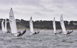 Sailors in the 420 class of the Chatham Yacht Club Regatta hike out over the water during a Saturday afternoon race. The winds that day were forceful, with Sunday's breezes much calmer. Kat Szmit Photo  (photo: )
