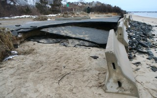 Erosion at Scatteree town landing in North Chatham.  FILE PHOTO  (photo: Tim Wood)