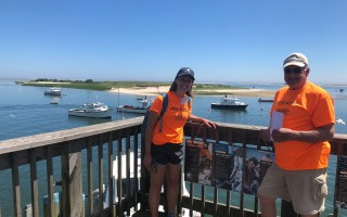 Pier hosts Scout Leonard and Rick Miszkin at the Chatham Fish Pier. DOREEN LEGGETT PHOTO  (photo: )