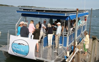 The 37-foot floating classroom has a 12-foot beam and can accommodate 29 passengers and two crew. On top of the canopy is an array of solar panels that power the electric motors. ALAN POLLOCK PHOTO  (photo: Alan Pollock)