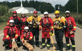 Cape Cod's members of the tech rescue team included (back row, from left) Dan Kimball, Eric Elliott, Kevin Moore, John Fleming, Brad Letoile, Kevin Delude, and (front row, from left) Josh Ford and David Ames. COURTESY PHOTO  (photo: Courtesy photo)