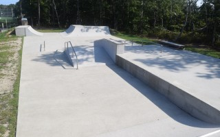 Chatham's skateboard park located at Volunteer Park. The park is now two years old but video monitoring cameras that were supposed to be part of the security system have yet to be installed. TIM WOOD PHOTO  (photo: )