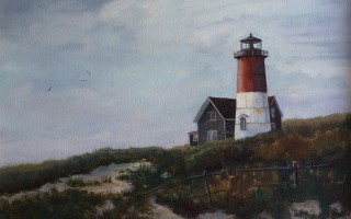 Beacon at Nauset, oil, circa 1984.  (photo: )