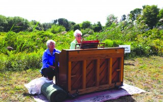 "Dot Hemmings at the ""Piano in the Woods"" during a Wildlands Music and Art Stroll in 2014. MICHAEL LACH PHOTO  (photo: )"
