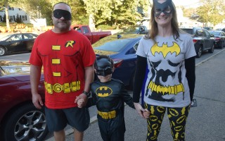 A family of superheroes marches in last year's Chatham Halloween Parade. FILE PHOTO  (photo: )