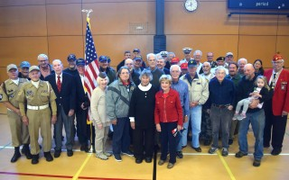 Chatham veterans gather after Sunday's Veterans Day ceremony at the community center. TIM WOOD PHOTO  (photo: )