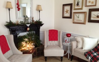 A festively decorated room in one of the homes on the Garden Club of Harwich holiday tour.  (photo: Courtesy Photo)