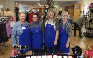 From left, Second Glance volunteer Ruth Walicki, manager Carol Chaves, assistant manager Lisa Asci, volunteer Caroline McCartie. DEBRA LAWLESS PHOTO  (photo: )