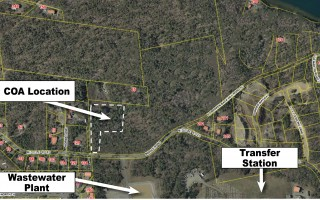 The preferred site for a new senior center is on Middle Road, across the street from the wastewater treatment plant. The wooded locale would provide room for adequate parking and future expansion.  (photo: )
