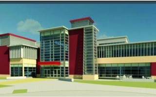 A rendering of the new Cape Cod Regional Technical High School. Construction bids came in lower than anticipated and work on the new structure is expected to begin in January. COURTESY ILLUSTRATION  (photo: )
