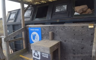 This mixed paper container at the Chatham Transfer Station's recycling area will be used strictly for newspaper recycling as of Jan. 1. TIM WOOD PHOTO  (photo: Tim Wood)