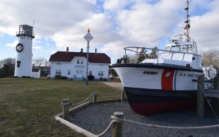 The Coast Guard's first 44-foot rescue boat, which replaced the 36-foot series, stands in front of the Chatham Station. The vessel replaced the venerable CG36500, which rescued 32 men from the wreck of the Pendleton in 1952. A recent re-evaluation of the station's status resulted in a change in its designation from a surf station to a heavy weather station. TIM WOOD PHOTO  (photo: )