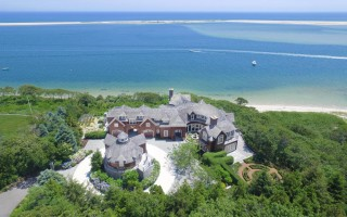 The estate at 97 Tilipi Run, on Morris Island in Chatham, as seen from above. It told recently for $14,750,000 million. COURTESY PHOTO  (photo: )
