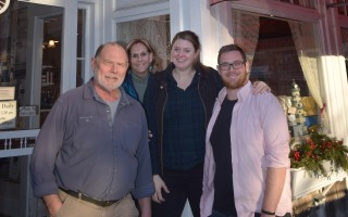 David Veach and Naomi Turner, left, are selling the iconic Chatham Candy Manor on Main Street to Paige and Robbie Carroll. Members of Carroll's family have worked at the chocolate shop for decades, and he put himself through college working there. TIM WOOD PHOTO  (photo: Tim Wood)