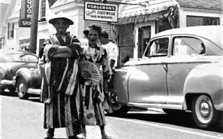 Barry Fulcher and Brenda Pellitier Dunakin at the Chatham 4th of July parade ca.1950's. PHOTO COURTESY OF DICK FULCHER  (photo: )