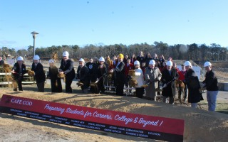 Groundbreaking was held on the new Cape Cod Technical High School in Harwich on Friday. WILLIAM F. GALVIN PHOTO  (photo: )