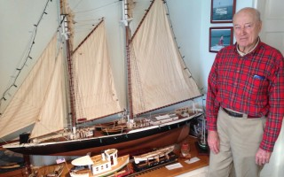 Stan Snow with some of his model ships. DEBRA LAWLESS PHOTO  (photo: Debra Lawless)