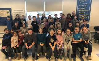 Monomoy Regional Middle School Megalodons participated in an evening of service Jan. 30.  (photo: )