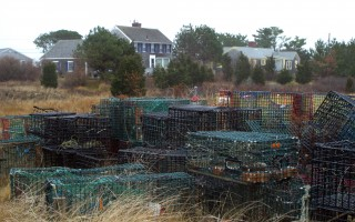 Lobster pots stored in a residential neighborhood in Chatham.   FILE PHOTO  (photo: Alan Pollock)