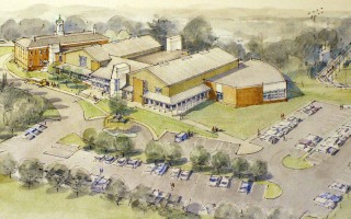 An early rendering of the Chatham Community Center design that includes two pools. The plans were defeated at town meeting in 2004 and revised to eliminate the pools. Parks and recreation commissioners think it's time to bring up the idea of a municipal pool once again. FILE PHOTO  (photo: )
