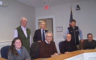 The trustees of the Orleans Affordable Housing Trust Fund Board held their first meeting Jan. 30. Back row, from left, Selectman Alan McClennen, chair; Duane Landreth, vice chair; Matthew Cole, clerk. Front row, Alexis Mathison, Ward Ghory, Greg DeLory, Henry Brehm. The board will meet with the affordable housing committee March 6.  ED MARONEY PHOTO  (photo: Ed Maroney)