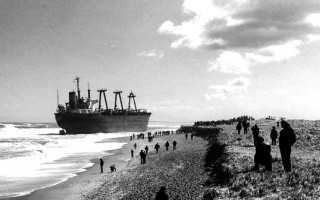 Eldia wreck on Nauset Beach in 1984. PHOTO COURTESY OF ORLEANS HISTORICAL SOCIETY  (photo: )