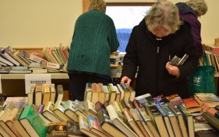 Perusing the stacks at last year's Book and Media Swap. FILE PHOTO  (photo: )