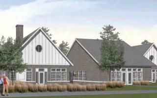 Selectmen are now searching for a new parcel of land to host a new senior center, either a one-story version like this, or a two-story design that would require less land.  (photo: Courtesy BH+A)