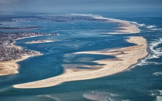 An aerial view of Chatham Harbor, looking north. The North Cut is at the top right of the image. COURTESY KARL SWENSON  (photo: KARL SWENSON)