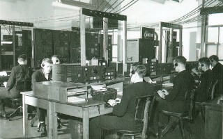 Navy personnel listen for Nazi communications at the Chatham Marconi Station during World War II. The station's role in intercepting enemy communications will be one of the subjects of an upcoming program at the Spring Learning Series at the Eldredge Public Library.  (photo: )