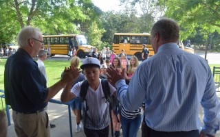 Students arrive at Monomoy Regional Middle School on the first day of classes. A decrease in the number of school-age children in Chatham is one of the signs of a demographic imbalance that the Chatham 365 task force is hoping to solve. The group will hold two public forums in April to get ideas from residents on how to address the diversity issue. CHRONICLE FILE PHOTO  (photo: )