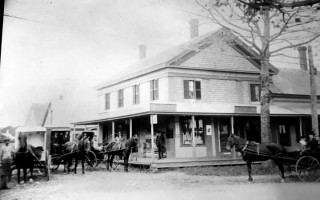The Eldredge Store at the corner of Bank and Miles Street, Harwich, ca 1850.  PHOTO COURTESY OF JOAN DERBY LYNCH  (photo: )