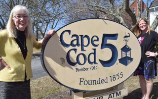 Barbara Matteson, left, long-time mortgage loan officer at the Cape Cod Five's Chatham branch, is retiring this week after 45 years with the company. Patti Lotane, right, will step into her shoes as the branch's mortgage loan officer. TIM WOOD PHOTO  (photo: )