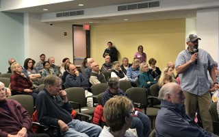 Fred Bierwirth offers comments at Saturday's Chatham 365 task force forum at the community center. TIM WOOD PHOTO  (photo: )