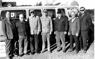 Chatham Council on Aging's mini-bus, carried people on an assortment of trips each week, was manned by volunteer drivers from left, Dick Lacatell, Clark Woolley, 'Maury' Morris, 'Mac' McGrath, Fred  Hurd, Walter Nutt, Don Beach, in 1980. FILE PHOTO  (photo: )
