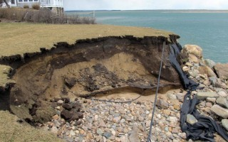 The erosion at Gerald Milden's property after the March 2018 storms. COURTESY PHOTO  (photo: )