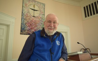 Edmund Robinson, the minister at the Chatham Unitarian Universalist Meeting House since 2008, will retire on Jan. 1. Because of declining membership and finances, the congregation won't be hiring another full-time minister. TIM WOOD PHOTO  (photo: Tim Wood)