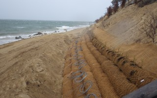 Wilkinson Ecological's patented fiber rolls installed along the shoreline. COURTESY PHOTO  (photo: )